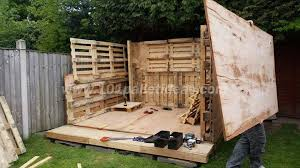 tiny pallet house or cabin diy tutorial