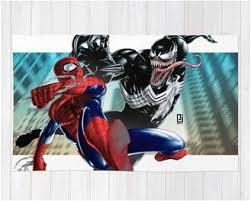 Marvel ics Spiderman versus Venom Area Rug – Superhero Sheets