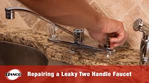 How To Repair A Leaky Kitchen Faucet How To Repair A Leaky Two Handle Faucet