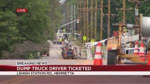 Driver In Henrietta Dump Truck Crash Charged | WHEC.com