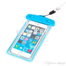 IP68 Noctilucent Waterproof Case Bag Transparent Touch Screen