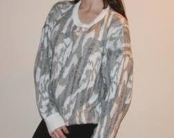 OVERSIZED PATTERNED SWEATER Tumblr Vintage Retro Sweater