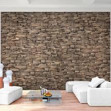 fototapete steinwand 3d effekt grau 396 x 280 cm vlies wand