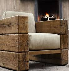 Southwestern Buckley Chair Chairs Ottomans Living Room Rustic Log