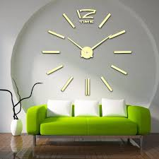 ankunft 3d wohnkultur quarz diy wanduhr große uhren horloge uhr wohnzimmer metall acryl spiegel 20 zoll