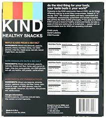 Kind Bar Nutrition Facts Dark Chocolate Mocha Almond Nuts Es
