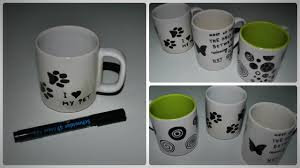 Decorating Fabric With Sharpies by Diy How To Decorate A Mug With Permanent Marker Youtube