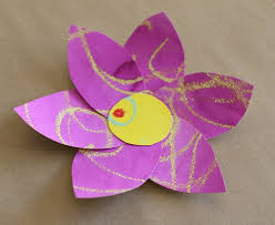 Paper Flower Crafts For Toddlers Construction Flowers