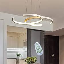 led pendelleuchte esstisch hängeleuchte 38w dimmbar mit fernbedienung pendelle modern landhaus stil acryl lenschirm design kronleuchter für