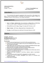 How To Write An Excellent Resume Sample Template Of Experienced MBA Finance Marketing Professional Curriculum Vitae With Free Download