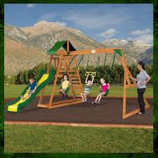 Patio Swing Sets Walmart by Ideas Happy Kidsplay With Wooden Swing Sets Clearance