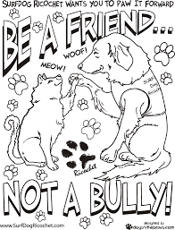 Free Bullying Coloring Pages Printable For Kids Within