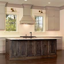 Rustic Dark Stained Kitchen Island And Sink With Oil Rubbed Bronze Faucet Setmostly Just Love The