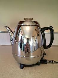 Vintage GE General Electric 18P40 9 Cup Pot Belly Coffee Percolator