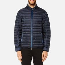 Michael Kors Men s Channel Quilted Jacket Midnight Clothing