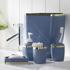 blue bathroom accessories you ll love wayfair