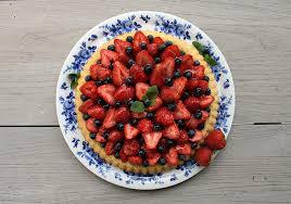 schneller obstboden mit erdbeeren