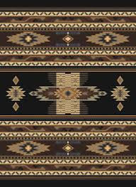 Image Is Loading SOUTHWESTERN Black MULTI Native AMERICAN Carpet RUSTIC Lodge