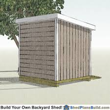 Free 8x8 Shed Plans Pdf by 8x8 Lean To Shed Plans Build A Lean To Shed