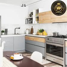 moderne landhausküche calypso winkelküche grifflose küche l form grau eiche