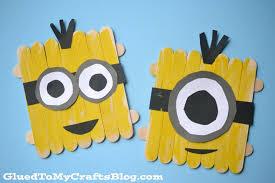 DIY Minion Craft Ideas Popsicle Sticks