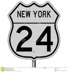 100 Truck Route Sign Highway For New York 24 Stock Illustration Illustration