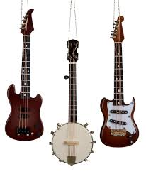 Electric Guitar And Banjo String Christmas Ornaments