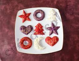 décorations de noel en relief en pâte à sel création décoration
