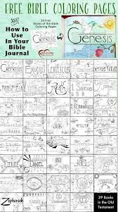FREE Books Of The Bible Coloring Pages