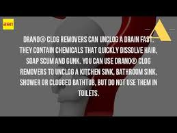 can you use drano in a bathtub youtube