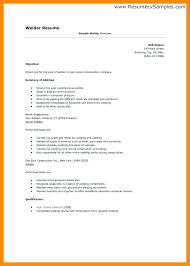Resume Examples Simple Welder Example 9 Welding Imagine Cover Letter For Welders