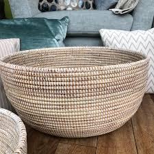 baskets basics korb oval groß natur weiß