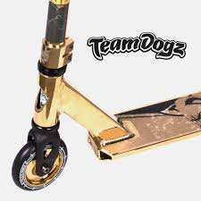 Team Dogz Pro X GOLD Scooter Stunt Kick Push Skate Neo Chrome Neochrome Deck