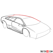 Lamborghini Sketch Step By Step At PaintingValleycom Explore