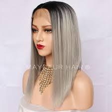 EOZY Perruque Cheveux Humain Femme Cheveux Postiches Naturel 56cm