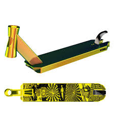 Lucky Scooters Prospect Stunt Scooter Deck Neo Gold HomeStunt