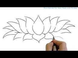 How to Draw a Beautiful and simple Lotus in Easy way YZArts