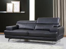 canapé cuir noir canapé cuir reconstitué pvc venise 3 places noir 84914 84916