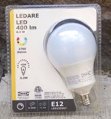 ikea ledare e12 400 led light bulb 6 3 watt dimmable globe opal ebay