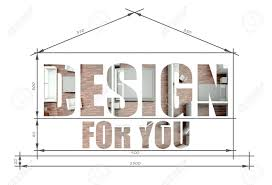 100 Modern House Blueprint Design For You Slogan In Stock Photo