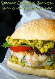 Chipotle Halloween Special 2015 by Cilantro Shrimp Burgers With A Smoky Guacamole Recipe Cooking On