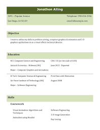 A Good Format Of Resume