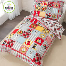 Kidkraft Fire Truck 4 Piece Toddler Bedding Set FREE SHIPPING