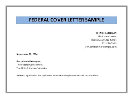 Federal Resume Cover Letter Examples