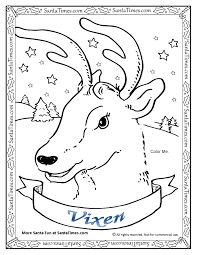 Download Coloring Pages Reindeer Printable Colored For
