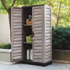 Lockable Medicine Cabinet Bunnings by Astonishing Weatherproof Storage Cabinets Plastic With Brown Mocha