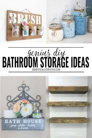 genius bathroom organization ideas domestically creative