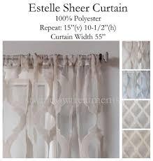 Moroccan Tile Curtain Panels by Estelle Burnout Sheer Curtain Panel Large Scale Design