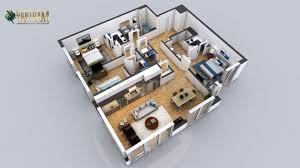 104 Two Bedroom Apartment Design Artstation Residential 3d Floor Plan With 2 House Dubai Uae Yantram Architectural Studio