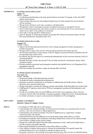 Download IT Operations Resume Sample As Image File